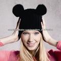 nuevo 2014 feliz navidad precioso y lindo divertido sombreros gorro de lana de venta al por mayor de punto con sombreros de piel