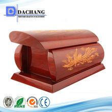 en bois de cyprès de papier simple cercueils pour crematory