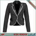 directo de fábrica de china oem personalizado blazer chaqueta de las mujeres al por mayor de moda diseño delgado en forma