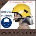 amarillo a prueba de golpes europa casco de seguridad
