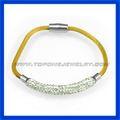 2014 cristal nuevo diseño pulsera de acero inoxidable 316l
