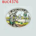 metal buc4376 ocidental soldador ferramentas cinto fivela