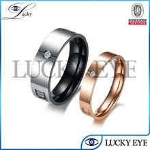 2014 nuevo diseño de acero inoxidable al por mayor anillo solitario