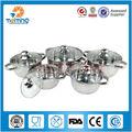 10pcs elegante y transparente utensilios de cocina de acero inoxidable