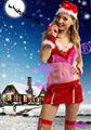 de lujo 2014 de navidad santa cláusula de traje para las niñas