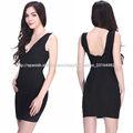 maduros v cuello negro cortos vestidos baratos apretados elegantes en línea