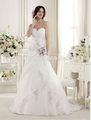 nueva moda elegante de tul de novia vestido de novia con flores