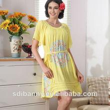 oem 2014 factry venta de tela de algodón de moda pijama niña