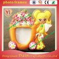 3d de goma de silicona de pvc marcos de fotos con el color naranja para decorar la casa