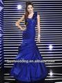 mejor ks05 caliente venta de nuevo de moda y elegante de color azul real vestidos de novia