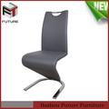 la pierna de metal moderno de cuero importados de sillas de comedor