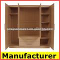 La melamina de madera armarios de dormitorio, precio del armario