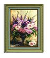 venta caliente hermoso lienzo de flores óleo