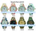 fábrica de China relojes flor de la impresión que muchos de estilo