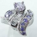 nuevo diseño de plata de moda los anillos de boda con el diamante