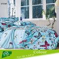 Hermoso diseño de la mariposa 100% de algodón hoja de cama