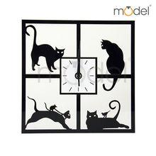 Moderno relojes de pared novedad del diseño Negro