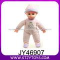 14 pulgadas dulces muñecos masculinos de plástico muñecas del bebé reborn usan ropa y el sombrero