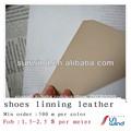 de la pu cuero sintético para los zapatos de tela del forro