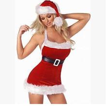 de color rojo sexy disfraces de navidad