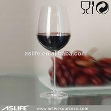 Artículos de vidrio de cristal 400ml/13.8oz leadfree de cristal de bohemia vidrio de vino rojo gafas partido divertido
