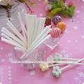 blanc papier bâtons bâtons pour les bonbons en vrac