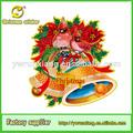 Feliz natal! Cor da impressão 3d cartões de natal, 2014 baratos moda 3d natal oem
