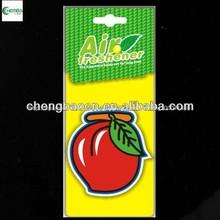 De aire de papel ambientador/. Aromas de frutas para promoional, olores de larga duración