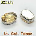 13x18mm lt. Col. Forma ovalada topacio cosa en piedras de cristal de envío gratis para la muestra
