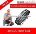 qualité oem auto moteur à Segments de piston pour 3l moteur