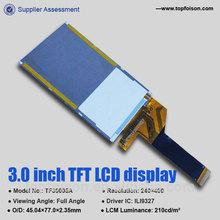 Pulgadas 3.0 fabricar lcd de visualización de placa de circuito con ili9327 unidad de ic