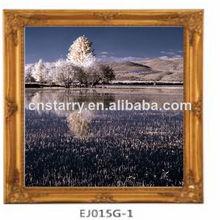 100% de madera hechos a mano pintura marco de foto para la decoración