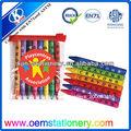 Cm 8.8 mini creyón conjunto/conjunto de lápices de colores en la bolsa de pvc/lindo conjunto crayón crayones marcas