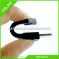 Alta qualidade Fabricante chaveiro cabo do carregador usb