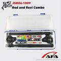 mejor caña de pescar y carrete telescópico de fibra de vidrio combo caña de pescar para adultos combo JSM06-1009