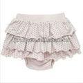 Orgánico de las faldas de las muchachas del bebé del algodón