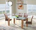 ( d635) base de madera mesa de cristal
