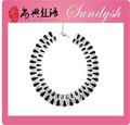 Gargantilla Guangzhou gruesa de grandes diamantes negros al por mayor