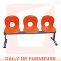 Fushion pública de acero de la viga de plástico silla sillas sala de espera heavy duty 3- silla enlace
