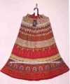 Saias de algodão longo indiano painel de impressões algodão 36 polegadas longa jaipuri saias para mulheres e meninas&