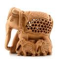 talla de madera elefante estatua hecha a mano de madera de la india estatua de elefante