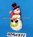Muñeco de nieve de cerámica ornamento colgante