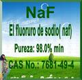 El fluoruro de sodio( naf) Fluoruro de sodio sal