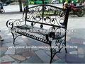 decorativos de ferro forjado banco de jardim para uso ao ar livre