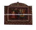 indian decoração da parede de madeira feitos à mão pintada caixa chave titular