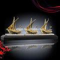 canton fair 2014 metal e barco de cristal troféu
