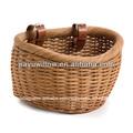 cão de vime cesta da bicicleta