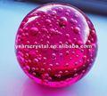 Nueva llegada de color rojo de la burbuja de cristal bola de cristal grabado el nombre 80mm(r- 1178