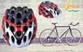 Sunshine rj-a011 capacetes de bicicleta para adultos jovens para a segurança, capacetes de bicicleta para adultos