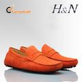 Los hombres de zapatos de cuero de gamuza cómodo verano